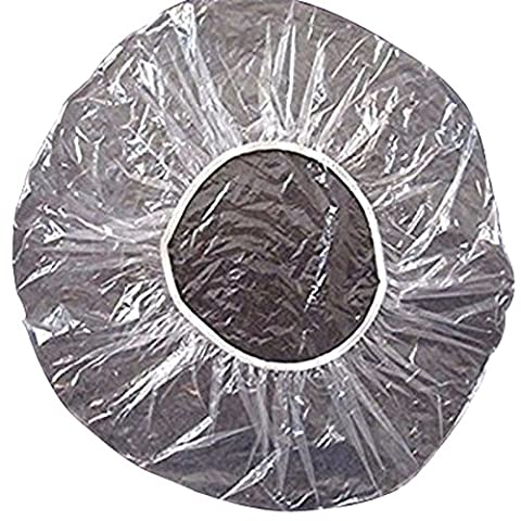 Haobase 50pcs/pack Transparent Disposable Hair Bath Shower