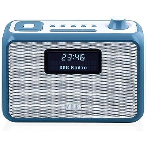 August MB400 – Radio DAB/DAB+ con Altavoz Bluetooth NFC, Alarma y Radio FM – Radio portátil con reproductor MP3 – Puerto USB / Lector de tarjetas SD y Entrada auxiliar (Azul)