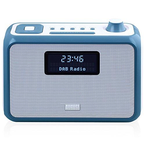 August MB400L Radio Digitale DAB/DAB+ - Radiosveglia FM/DAB/DAB+ con Altoparlante Stereo Bluetooth NFC - Radio Portatile e lettore MP3 : porta USB / Lettore di Scheda SD / Ingresso 3,5mm - Cassa Stereo Compatta