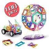 Bloques de Construcción / Bloques Magneticos, MengK Juego de Contrucción con Bloques Magneticos Magnéticos Building Blocks 100 Piezas con Imanes Kit de Juguete Educativo Para niños para La Educación del Niño de Los Ladrillos de Construcción Juguetes Ferris Wheel
