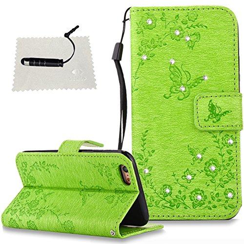 Schutzhülle für iPhone 6S / iPhone 6 Hülle, Tasche für iPhone 6S Wallet Cover iPhone 6S / iPhone 6 Schutzhülle iPhone 6S für iPhone 6S / iPhone 6 Handyhülle - Grün