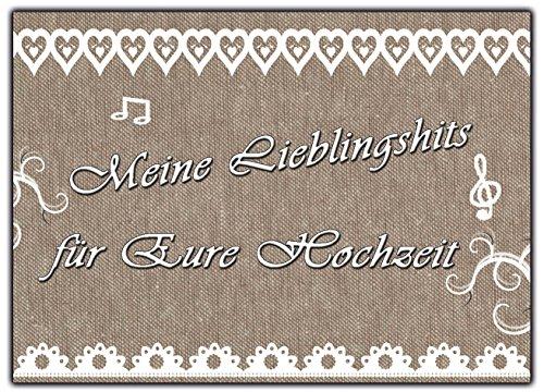 Musikwunschkarten 50 Stück Musikwunsch Musik wunsch Karten Vintage Hochzeit Geburtstag Party Sylvester wunschkarte Musikwunschkarte Hochzeitsspiel Hochzeitsspiele für Gäste Brautpaar Hochzeitsfeier DJ