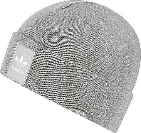 adidas Unisex Logo Beanie, Mgh Solid Grey/White,