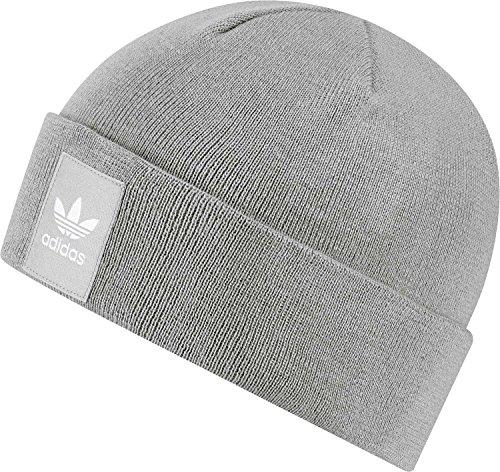 Logo Adidas Beanie, Unisex, Logo, Mgh Solid Grey/White, Taglia unica (uomo)