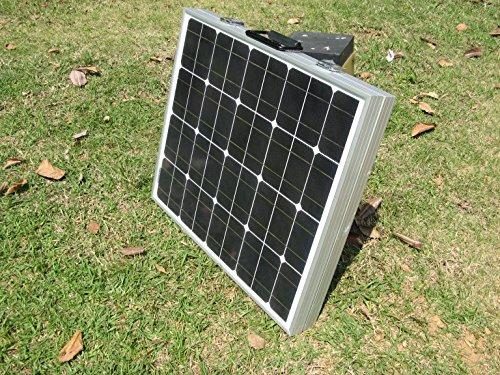 ECO-WORTHY Solarpanel 12V Solarmodul 100W Monokristallin Komplett Set Solar-Ladegerät Faltbar für Camping Wohnwagen Boot 12 V Batterie -