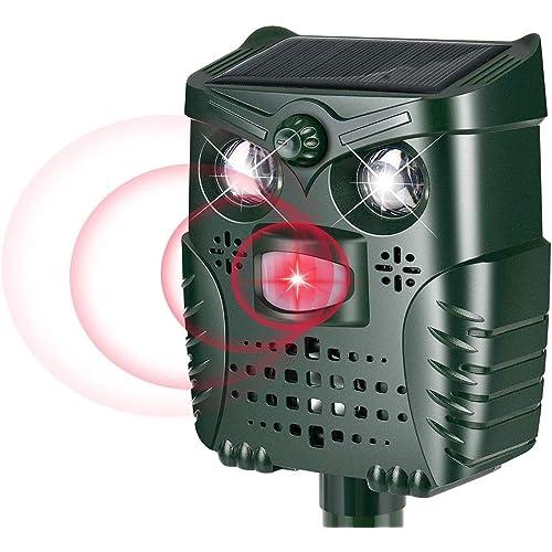 PewinGo Repellente Gatti, Repellente Ultrasuoni Energia Solare Impermeabile Repellente per cani e Gatti con Sensore IR a LED
