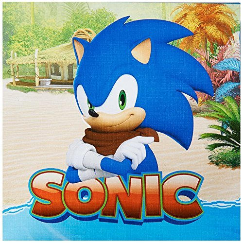 Sonic Boom Party Supplies - Lunch Napkins by BirthdayExpress (Birthday Supplies Sonic Party)