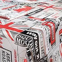 Mantel tipo hule, mantel encerado lavable de Londres, Inglaterra, Reino Unido, Gran Bretaña, varios tamaños, toalla, Sättige, Beständige Farben, 200 x 140 cm