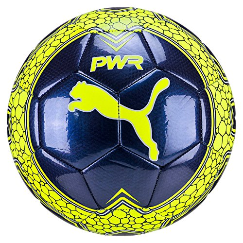 Puma Unisex Evopower Vigor Graphic 4 - Balón de fútbol, Otoño-invierno, color blue depths-Safety yellow, tamaño 5