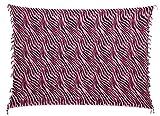 Sarong Pareo Wickelrock Dhoti Loop Tuch Strandtuch Handtuch Zebra Schwarz Pink