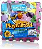 Multi Colored Interlocking Play Mat Set, 9 Piece by Kingfisher