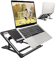 ELZO laptopstandaard - Multi-Angle-standaard aluminium instelbare standaard voor laptop 10-17,3 inch tablet/MacBook/tablet,