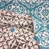 Stoff Meterware Wellness Fleece türkis grau weiß Lisboa grün weiß Softplüsch weich Neu