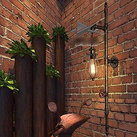 WTL Lighting American Bar pared del café retro Pared Pared luces del pasillo creativo de plomería decorativa de pared de hierro forjado escalera