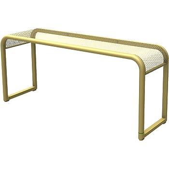 dandibo bank futura modern gartenbank 11670 sitzbank 110 cm aus metall eisen blumenbank. Black Bedroom Furniture Sets. Home Design Ideas