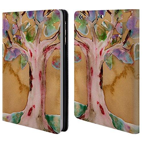 Preisvergleich Produktbild Offizielle Wyanne Lebensbaum Natur 2 Brieftasche Handyhülle aus Leder für Apple iPad mini 1 / 2 / 3