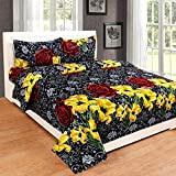C&G 120 TC Microfiber Double Floral Bedsheet (Pack of 1, Multicolor)