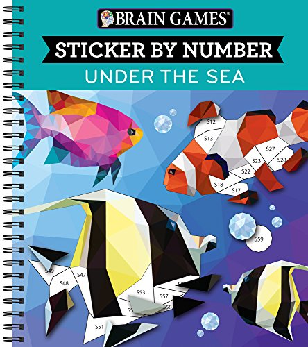 Brain Games Sticker by Number Under the Sea