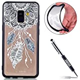 Galaxy A8 Plus 2018 Custodia, Cover Samsung Galaxy A8 Plus 2018, JAWSEU Samsung Galaxy A8 Plus 2018 Custodia Silicone Moda Stile Disegno Creativo Ultra Sottile Custodia per Samsung Galaxy A8 Plus 2018 Back Cover Case Flessibile Gomma Morbida Silicone Custodia Cover per Samsung Galaxy A8 Plus 2018 Coperture Anti Graffio Anti Scossa Anti Scivolo Macchia Cristallo Trasparente TPU Silicone Protectiva Bumper per Samsung Galaxy A8 Plus 2018 - Campanula piuma