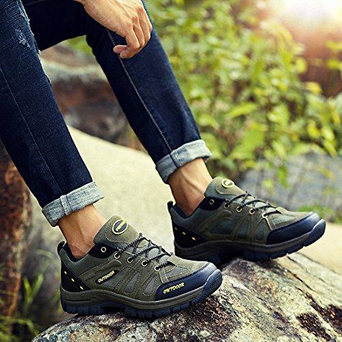 Ben Sports Randonnée pour hommes Chaussures descalade Taille Plus Armée verte
