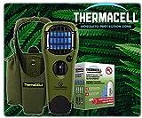 Davartis ThermaCell Sorglos Paket - 60 Stunden Mückenschutz im Set Handgerät olivgrün mit Kippschalter MR-GJ + passende Tragetasche und Nachfüllpack R-4