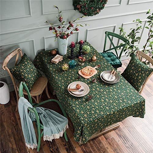 DHHY Tischdecke aus Baumwolle und Leinen Weihnachten Bronzing Windspiel rechteckig wasserdicht ölbeständig Tee Tischdecke A 140x220cm -