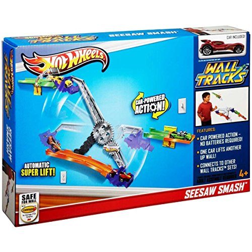 Hot Wheels Wall Tracks Power Pulley / (Car Powered Action) + Car & Chain Powered Auto Lift