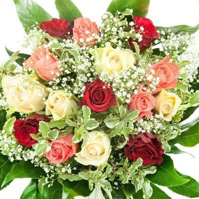 Bunter Geburtstags Blumenstrauß - Bumo - inkl. gratis Grußkarte!