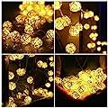 InnooLight 40er 4 Meter LED Rattan Lampion Lichterkette mit 1,5 M Zuleitungskabel, Innen Deko für Wohnungen, Schlafzimmer, Fenster, geeignet für Party, Weihnachten, Fest usw. Warmweiß DC 31V von Innoo Tech bei Lampenhans.de