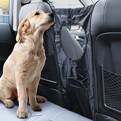 Preisvergleich Produktbild FEMOR Haustier Rücksitz Barriere Pet Hunde Trenngitter Kopfstütze Barriere Hundenetz für Auto Sicherheit