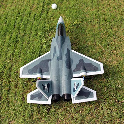 Kikioo 2.4G Fernbedienung Flugzeug Segelflugzeug, LED Stabilisierungssystem 6 CH DIY Starrflügel EPP Elektroflugzeuge Eingebaut in 6 Achsen Gyro System Super einfach zu fliegen RC Hubschrauber Beste G