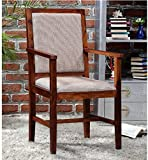 #2: Shilpi Wooden Arm Chair With Cushions(Natural Teak) / Sheesham Wooden Comfort Chair