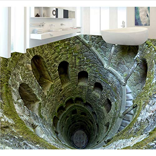 Mkkwp Impresionante Mina Pit Photo Floor Tiles Wallpaper Mural 3D Sala De Baño Pvc Autoadhesivo De Vinilo Pisos Anti Desgaste Pegatinas300Cmx210Cm