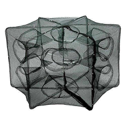 Faltbare Angelnetz Nylon für Fangen von Garnelen Minnow Krebse Köder Krabbe Fische ( Abmessung : 12 Holes )