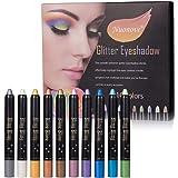 Sombra de Ojos Stick, Pen Eyeshadow, Eyeshadow Glitter, Lápiz de Sombra de Ojos, Sombra de Ojos Hipoalergenico Waterproof Lon