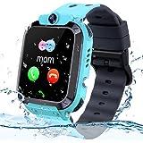 Kids GPS Tracker Watch, IP68 Waterdichte Kids Smartwatch met GPS Tracker Telefoon Wekker Game Camera Compatibel met 2G T-Mobi
