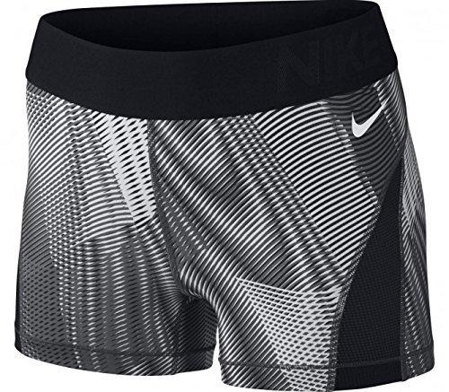 Hosen Nike Thermo (Nike Damen Pro Hyper Cool Frequency Short Thermo Damenshorts, Schwarz/Dunkelgrau/Weiß, XS)