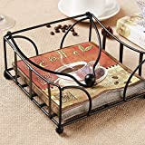 Artesia Iron Designer Flat Napkin Paper Holder For Home | Tissue Holder