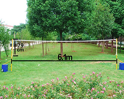 Professional 20' Standard Training Badminton Net 6.1m X 0.79m Outdoor Sports Test