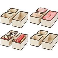 mDesign organisateur de tiroir (lot de 12) – boite de rangement respirante pour chaussettes, lingerie, etc. – rangement…