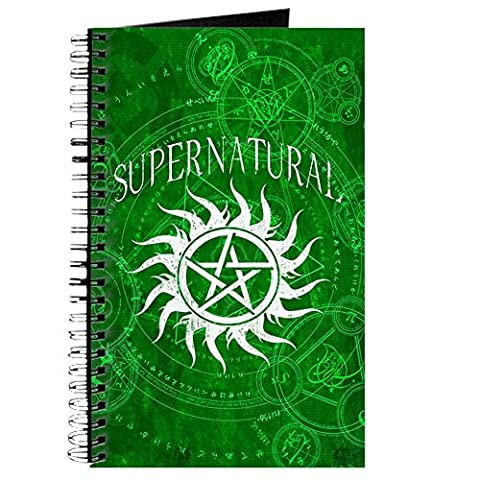 CafePress–Supernatural, grün–Spiralbindung Journal Notizbuch, persönliches Tagebuch, liniert