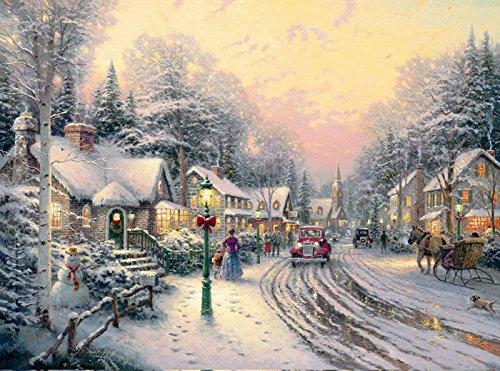 Van Eyck Christmas Eve Scenery Landschaft Prints auf Leinwand Art Wand Bild für Wohnzimmer Home Dekorationen (Innen) -