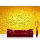 Vlies Fototapete 416x254cm PREMIUM PLUS Wand Foto Tapete Wand Bild Vliestapete - Kunst Tapete Abstrakt Knitter Falten Design Muster Papier gelb - no. 2345