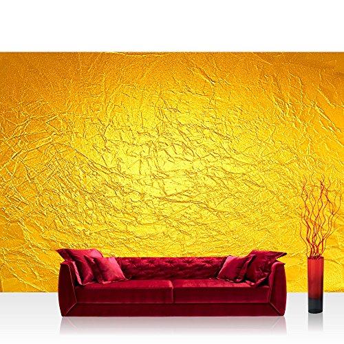 Vlies Fototapete 416x254cm PREMIUM PLUS Wand Foto Tapete Wand Bild Vliestapete - Kunst Tapete Abstrakt Knitter Falten Design Muster Papier gelb - no. 2345 - Abstrakte Kunst-muster