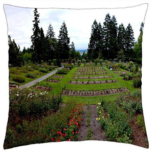 Portland, Oregon Rose Test Garden - Throw Pillow Cover Case (18