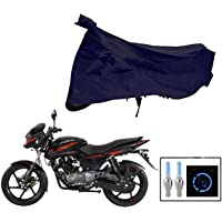 Riderscart 100% Water Proof Bike Cover for Bajaj Pulsar 150 Two Wheeler Cover with Universal Tyre Light Blue Fancy Light…