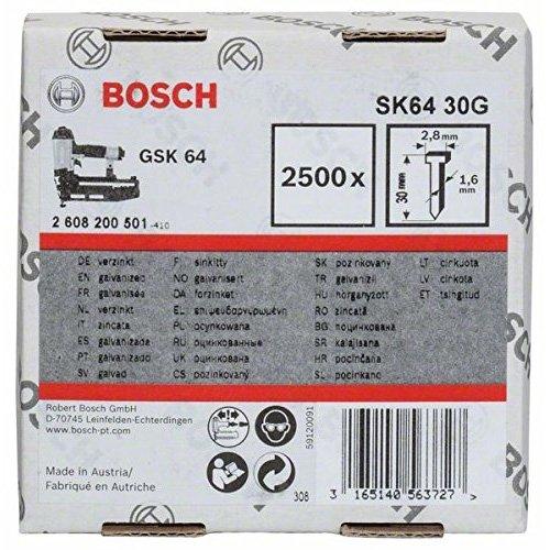 Bosch 2608200501 Nagel 1,6/16g Senkkopfnagel SK64 30G
