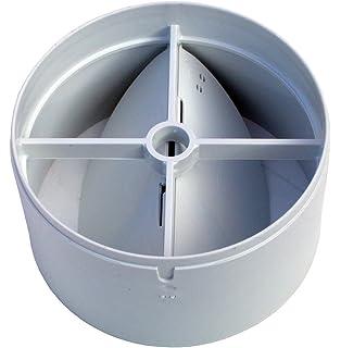jackyee Pipe Draft Blocker Backdraft Damper Ventilation Duct Inline Extractor Fan Vent Back Draught Shutter Vent Duct Check Valve White