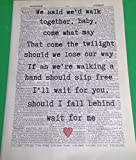 Bruce Springsteen If I Should Fall Behind LYRICS VINTAGE DICTIONARY PRINT ART