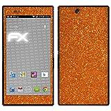 atFolix Sony Xperia Z Ultra Skin FX-Glitter-Orange-Juice Designfolie Sticker - Reflektierende Glitzerfolie